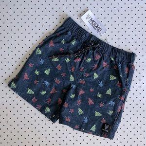 Boys size 8 MOOKS Board Shorts or boardies, drawstring, navy, swimsuit, shorts